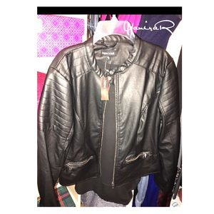 NEW‼️GOOD LOOK faux Leather Jacket. PXL
